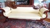 Handsome Empire Period Mahogany Sofa with Lion paw Feet