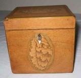 Small Mahogany Tea Box